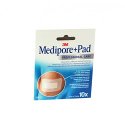 MEDIPORE + PAD PANSEMENTS ADHÉSIFS 5CMX7.2CM X10 3M