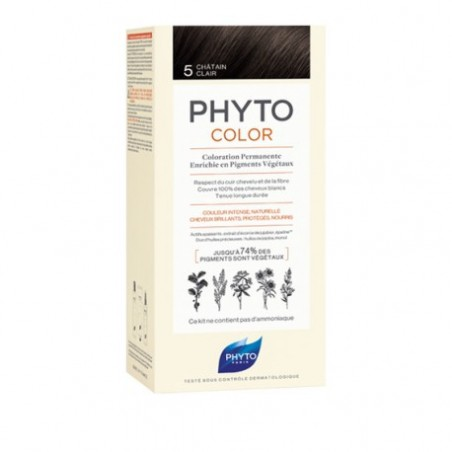 PHYTOCOLOR COLORATION PERMANENTE CHATAIN CLAIR  5 PHYTO