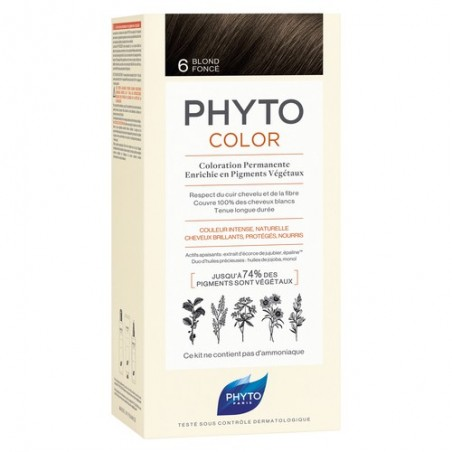 PHYTOCOLOR COLORATION PERMANENTE BLOND FONCÉ 6 PHYTO