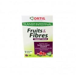 FRUITS & FIBRES TRANSIT FACILE 30 comprimés ORTIS