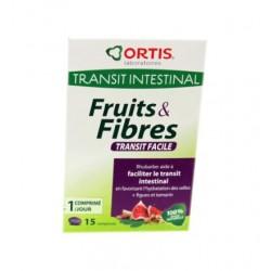 FRUITS & FIBRES TRANSIT FACILE 15 comprimés ORTIS