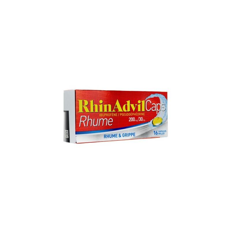 RHINADVIL RHUME 16 CAPSULES PFIZER