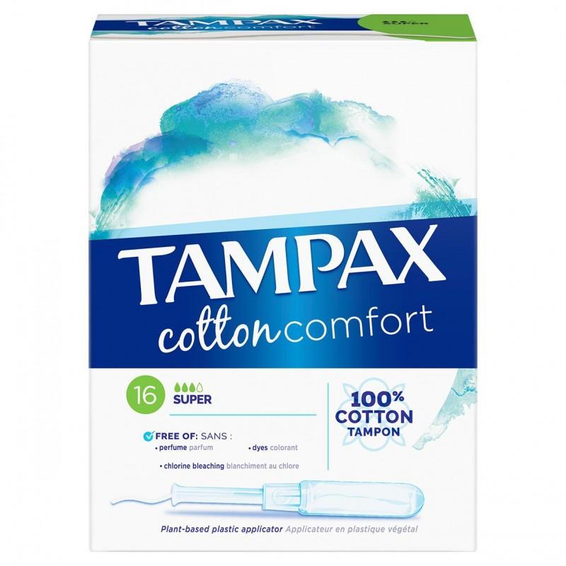 TAMPONS COTTON COMFORT SUPER X16 TAMPAX