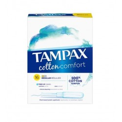 TAMPONS COTTON COMFORT SUPER X16 TAMPAX