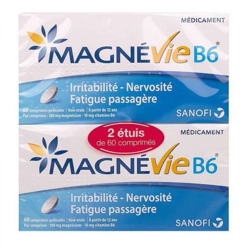 MAGNEVIE B6 MAGNESIUM LOT DE 2 BOITES SANOFI
