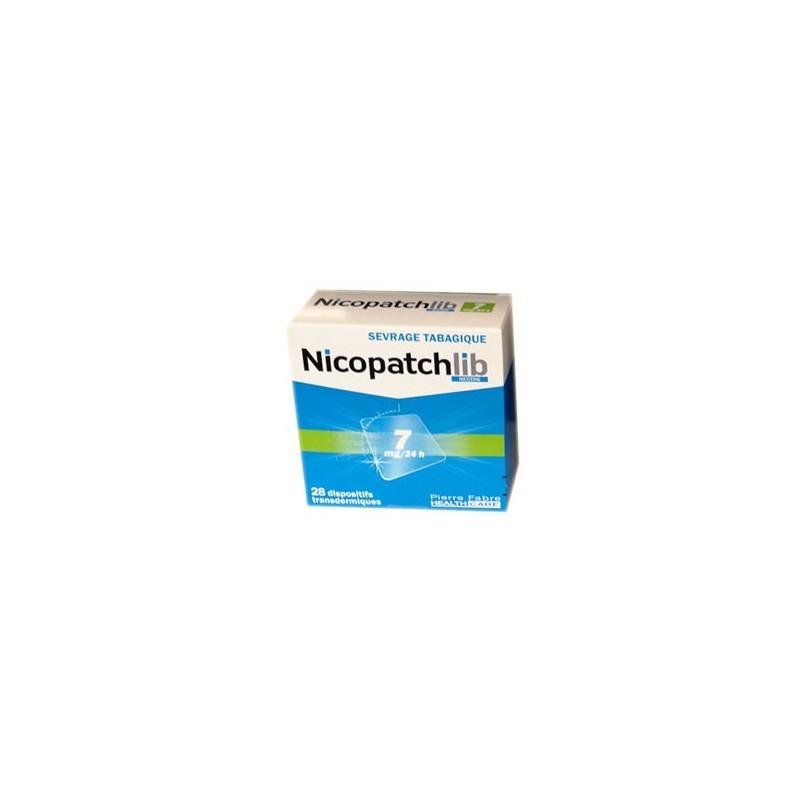 NICOPATCHLIB 7 MG/24 H 28 PATCHS TRANSDERMIQUES PIERRE FABRE
