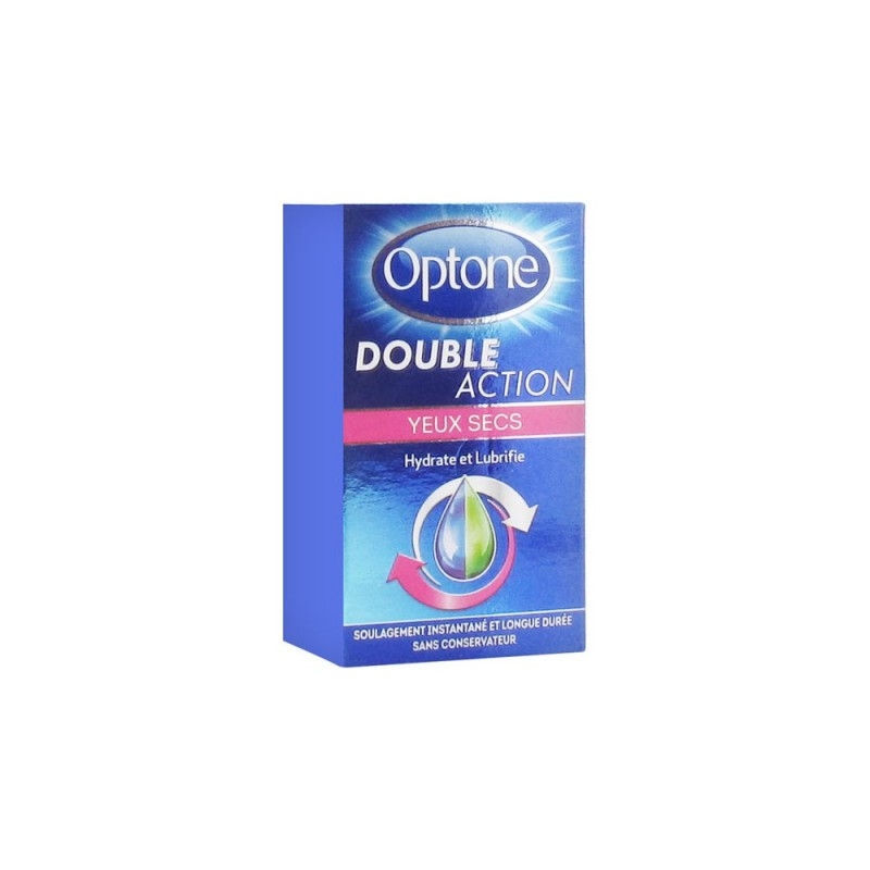 SOLUTION OCULAIRE DOUBLE ACTION YEUX SECS 10ML OPTONE
