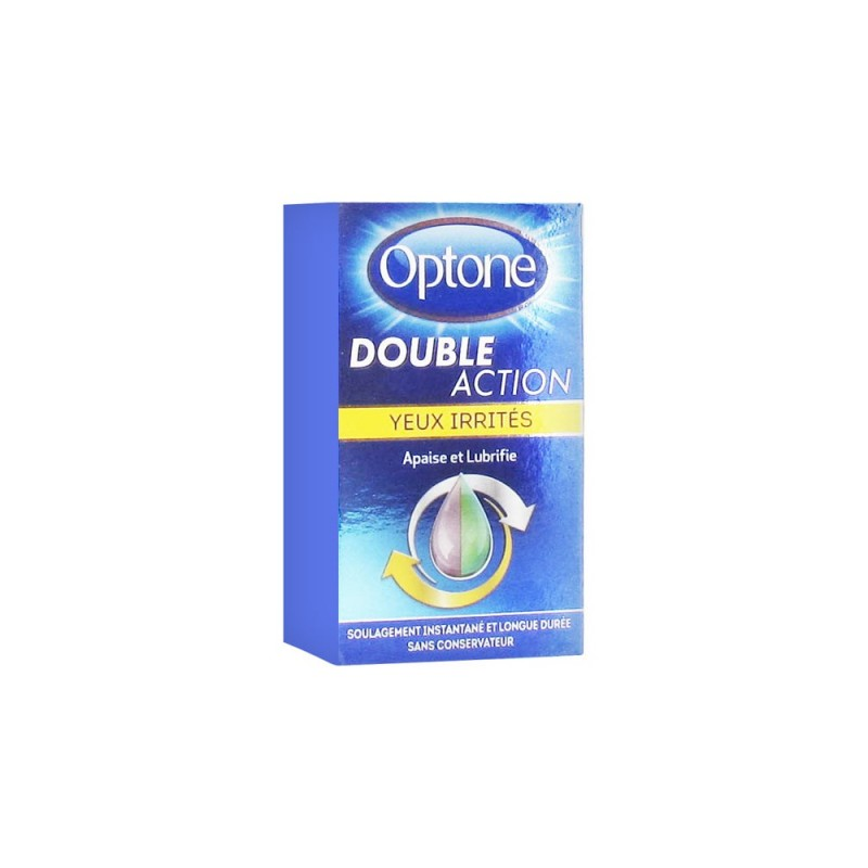 SOLUTION OCULAIRE DOUBLE ACTION YEUX IRRITÉS 10ML OPTONE