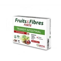 FRUITS & FIBRES FORTE TRANSIT INTESTINAL 12 CUBES ORTIS