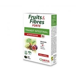 FRUITS & FIBRES FORTE TRANSIT INTESTINAL 24 GELULES ORTIS