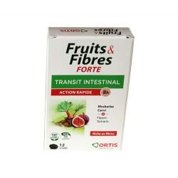 FRUITS & FIBRES FORTE TRANSIT INTESTINAL 12 GELULES ORTIS