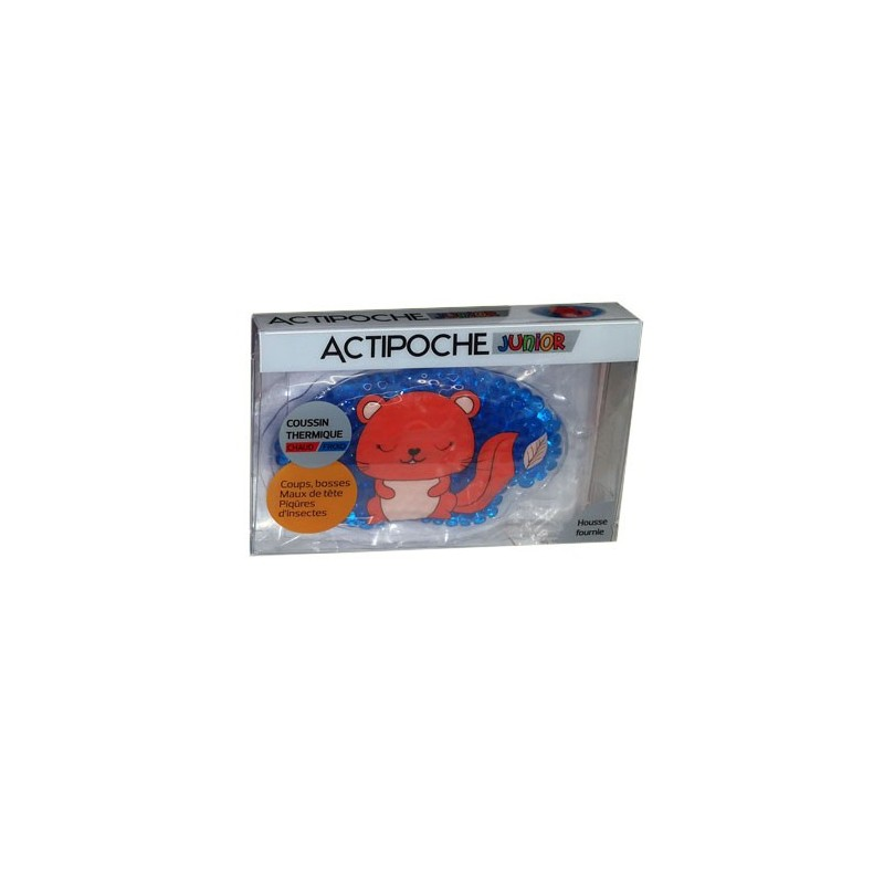 ACTIPOCHE COUSSIN THERMIQUE CHAUD FROID JUNIOR Forme Ecureuil COOPER