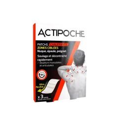 ACTIPOCHE  PATCHS CHAUFFANTS ZONES CIBLÉES X 3 COOPER