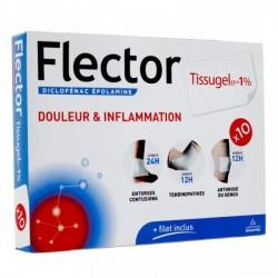 FLECTOR TISSUGEL EP 1% 10 EMPLATRES GENEVRIER