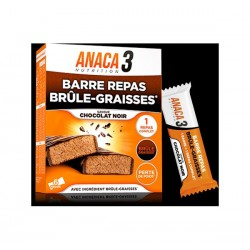 ANACA 3 BARRES REPAS BRULE GRAISSE CHOCOLAT NOIR NUTRAVALIA