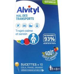 ALVITYL MAL DES TRANSPORTS 10 SUCETTES URGO