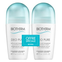DEO PURE DUO ANTI TRANSPIRANT 2X 75ML BIOTHERM
