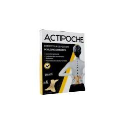 ACTIPOCHE CORRECTEUR DE POSTURE DOULEURS LOMBAIRES 4 PATCHS COOPER
