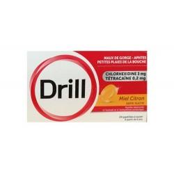 DRILL PASTILLES MAUX DE GORGE MIEL CITRON SANS SUCRE X24 PIERRE FABRE