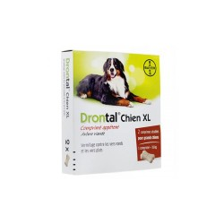 DRONTAL CHIEN XL VERMIFUGE 2 COMPRIMES BAYER
