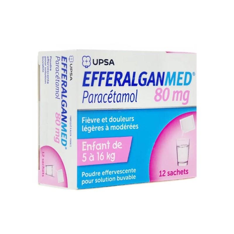 EFFERALGAN MED  ENFANT POUDRE EFFERVESCENTE 80MG UPSA