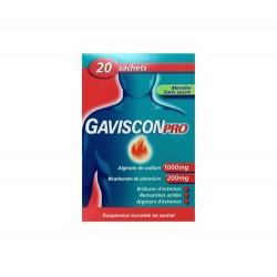 GAVISCONPRO MENTHE SANS SUCRE 20 SACHETS DOSE GAVISCON