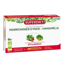 MARRONNIER D'INDE-HAMAMELIS BIO CIRCULATION 20 AMPOULES SUPER DIET