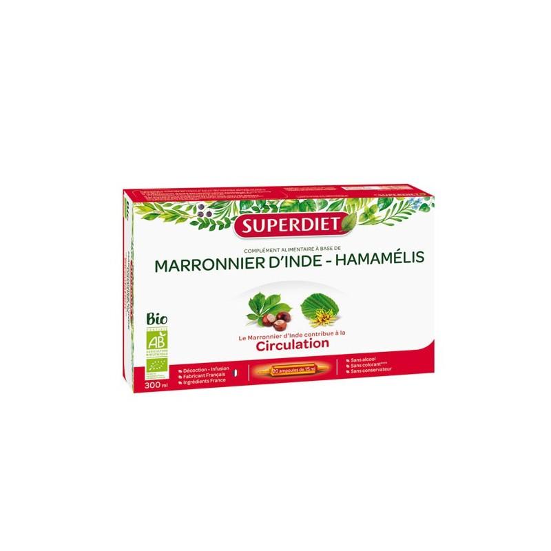 MARRONNIER D'INDE-HAMAMELIS BIO CIRCULATION 20 AMPOULES SUPER DIET