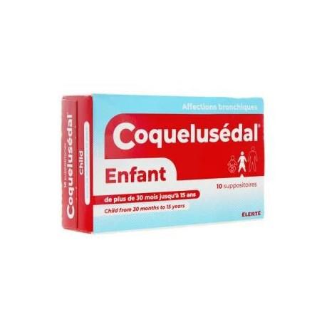 COQUELUSEDAL ENFANT 10 SUPPOSITOIRES ELERTE