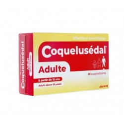 COQUELUSEDAL ADULTE 10 SUPPOSITOIRES ELERTE