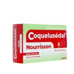 COQUELUSEDAL NOURRISSON 10 SUPPOSITOIRES ELERTE