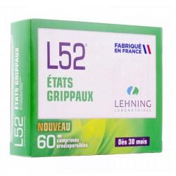L52 ETATS GRIPPAUX HOMEOPATHIE 60 COMPRIMES LEHNING