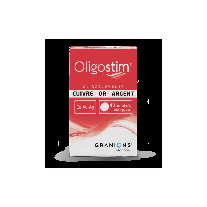 OLIGOSTIM CUIVRE OR ARGENT Cu Au Ag 40 comprimes GRANIONS