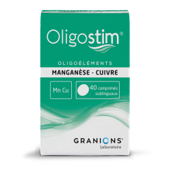 OLIGOSTIM MANGANESE CUIVRE Mn Cu 40 comprimes GRANIONS