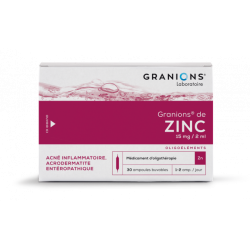 GRANIONS DE ZINC 15 mg/2ml, solution buvable en ampoule