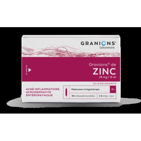 GRANIONS DE ZINC 15 mg/2ml, solution buvable en ampoule