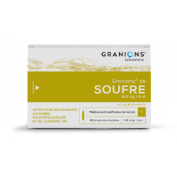 GRANIONS DE SOUFRE 19,5 mg/2ml, solution buvable