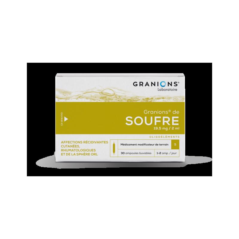 GRANIONS DE SOUFRE 19,5 mg/2ml, solution buvable