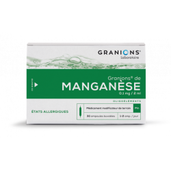 GRANIONS DE MANGANESE 0.1mg/2ml, solution buvable