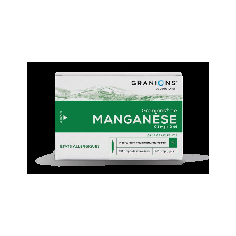 GRANIONS DE MANGANESE 0.1mg/2ml, solution buvable
