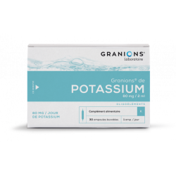 GRANIONS DE POTASSIUM 80mg/2ml 30 ampoules
