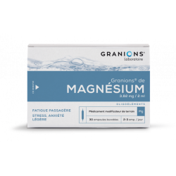 GRANIONS DE MAGNESIUM  3,82 mg/2ml, solution buvable en ampoule