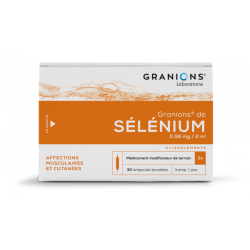 GRANIONS DE SELENIUM 0.96mg/2ml, solution buvable