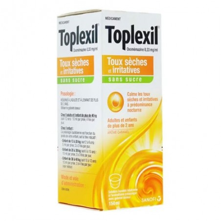 TOPLEXIL SANS SUCRE TOUX SECHE et IRRITATIVE SANOFI AVENTIS