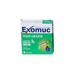 EXOMUC 200MG TOUX GRASSE 15 sachets BOUCHARA RECORDATI