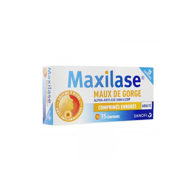 MAXILASE MAUX DE GORGE 15 COMPRIMES SANOFI