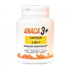 ANACA 3+ CAPTEUR GRAISSES ET SUCRES 5 EN 1-120 GÉLULES NUTRAVALIA