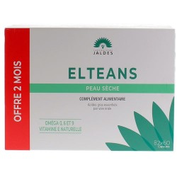 ELTEANS NUTRITION PEAU SECHE LOT 2 X 60 CAPSULES LABORATOIRES JALDES