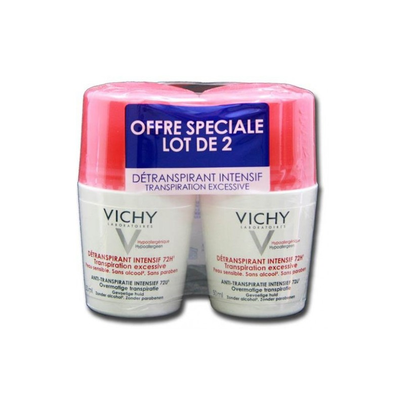 DEODORANT DETRANSPIRANT INTENSIF 72H LOT DE 2 ROLL ON VICHY