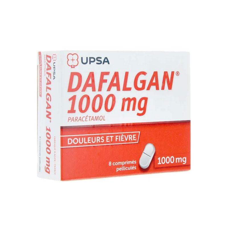 DAFALGAN 1000MG 8 COMPRIMES PELLICULES UPSA